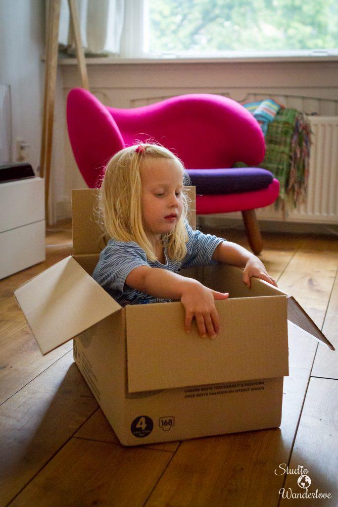 In een doos