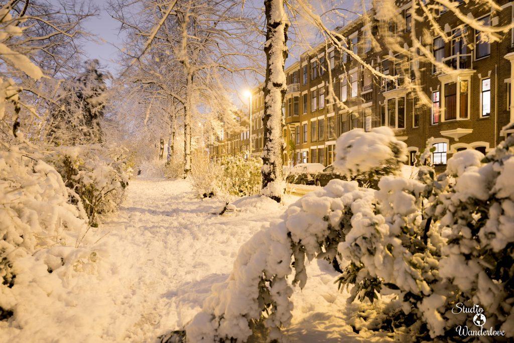 Liskwartier in sneeuw